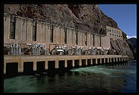 Hoover Dam.  Arizona/Nevada border.